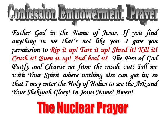 the nuclear prayer